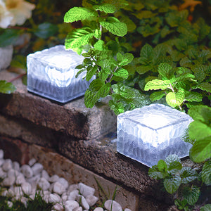 Solar-Powered Glass Brick Path Light - Heavy Duty Outdoor Lights!