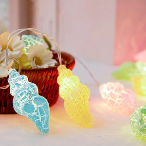 Decorative Seashell String Lights