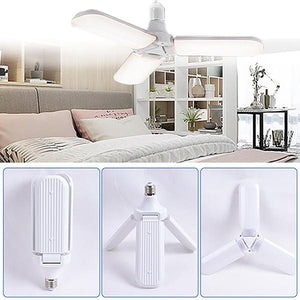 Foldable Fan Blade LED Light Bulb