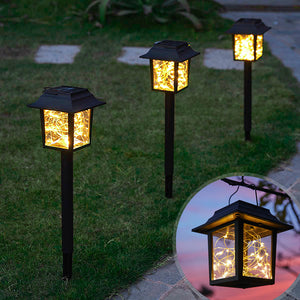 2 in 1 Solar-Powered Copper Wire LED Lantern Light