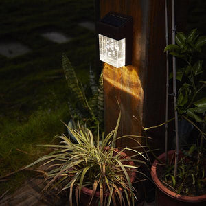 Solar-Powered LED Bubble Wall Light