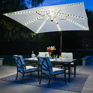 Solar-Powered LED Umbrella Light