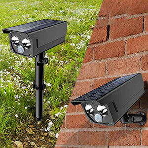 Solar-Powered Motion Sensor Security Spotlight