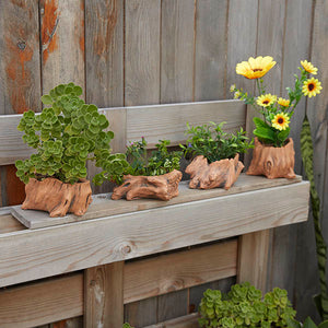 Tree-Trunk Effect Plant Pot