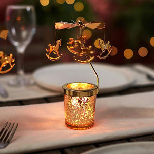 Spinning Carousel Candle Holder