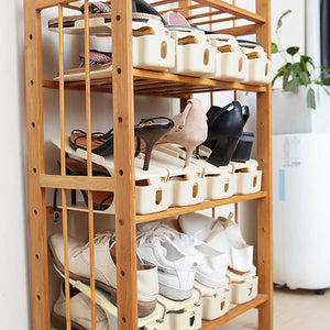 2 Pcs Space Saving Shoe Slot Organizer Set