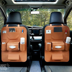 NEW - Leather Car Back Seat Organizer