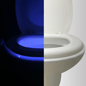 Motion Activated Toilet Bowl Light - Light Up Your Way!