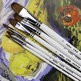 Filbert  Brush Set Weasel Hair Artist Oil & Acrylic