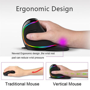Optical RGB Wireless Right Hand Mice For PC Laptop