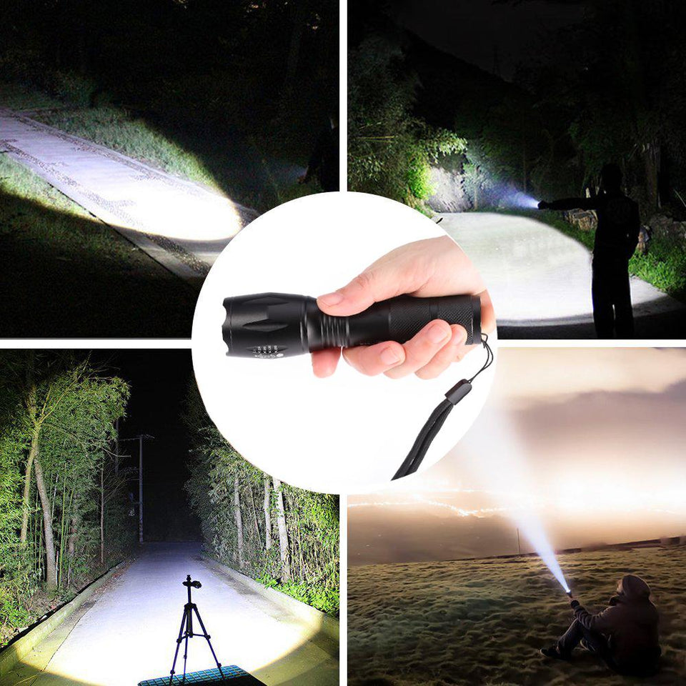 LED Tactical Flashlight  Zoomable 5 Modes