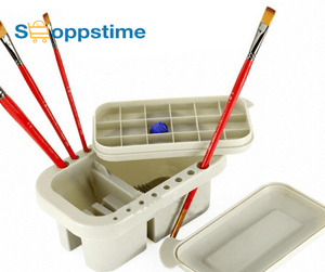 Brush Washing Bucket & Brush Holder