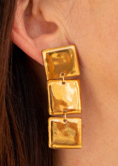 Cubist Nirvana Droplet - Yellow Gold