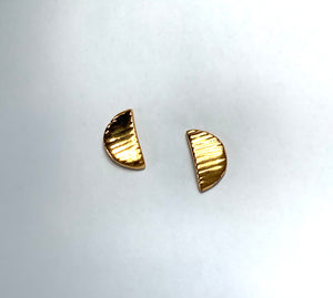 Etched Crescent Studs