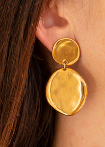 Pebble Droplet - Yellow Gold - Large