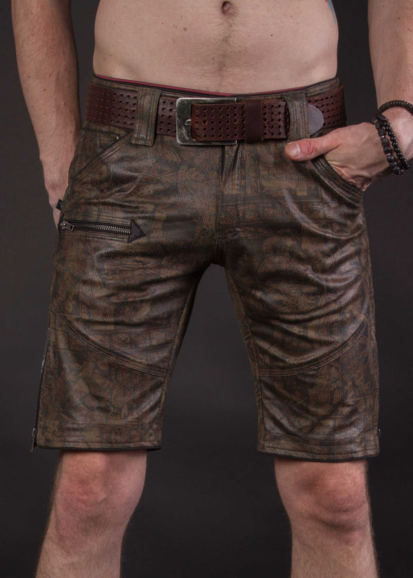 Flying Shorts Fake Leather Snake - ELDERS