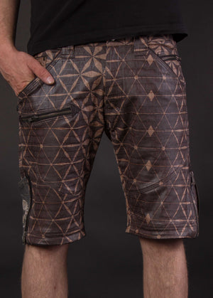 Flying Shorts Fake Leather Croc Belly - SANDS OF TIME