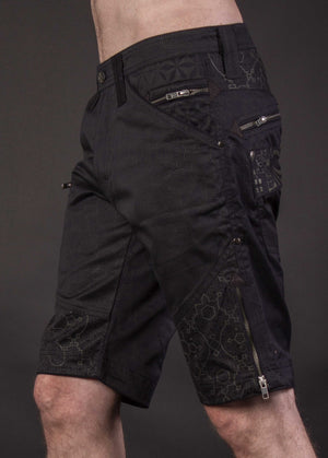 Flying Shorts Printed Cotton Midnight Ikaro - SPOOTNIK