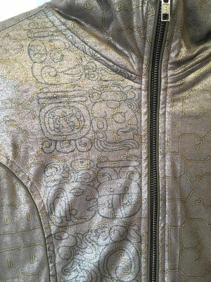 Jacket Woman Fake Leather Silver Surfer - FLYIING SKULLS