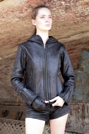 Jackets Woman High Tech Fake Leather -BLACK