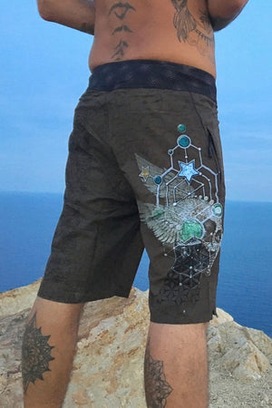 Boardshort Fast Dry - FLYING SKULLS