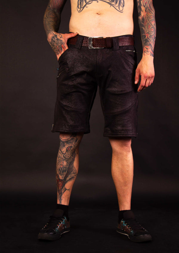Flying Shorts Hightech Fake Leather - BLACKSTONE
