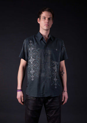 Shirt Men Halfsleeves Cotton - THUNDERSPINE