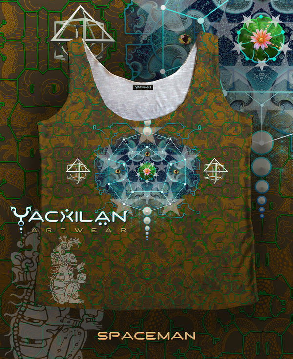 A-Tank Woman Spun Sublimation - SPACEMAN