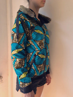 TURQUOISE Hoodies African Wax