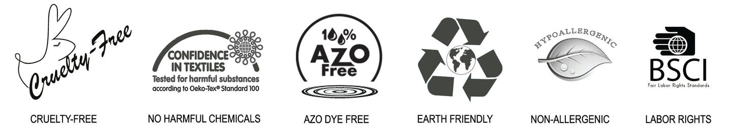 cruelty-free hypoallergenic earth friendly azo dye free Oeko-tex tested