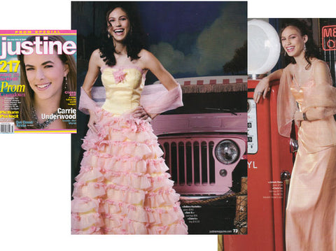 justine magazine fitted prom dresses sheets debora rachelle