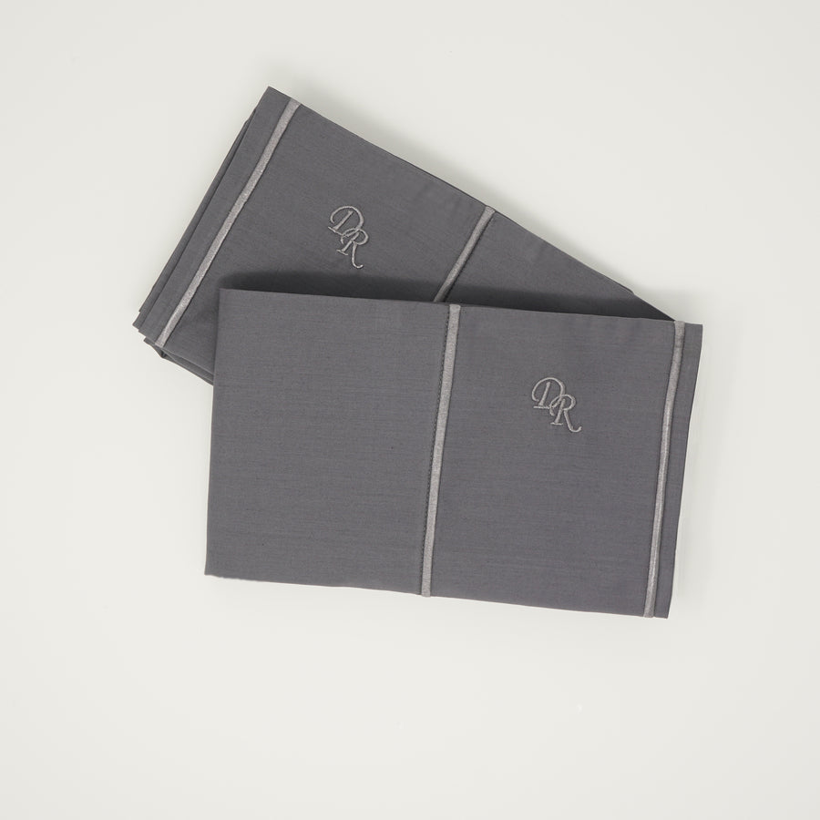 Gray ultra luxurious pillowcase set 100% cotton hypoallergenic