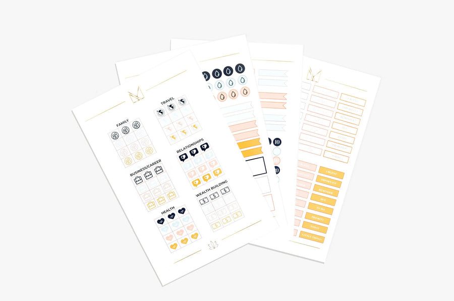 Lifestyle Assorted Sticker Pack - 4 Pages
