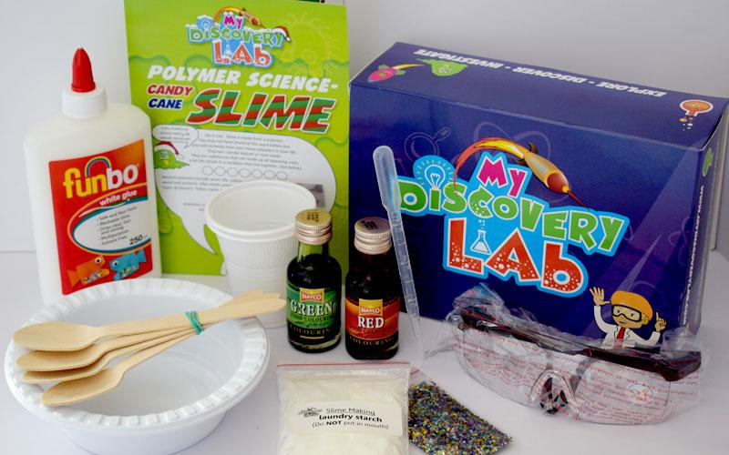 Science Kit: Candy Cane Slime