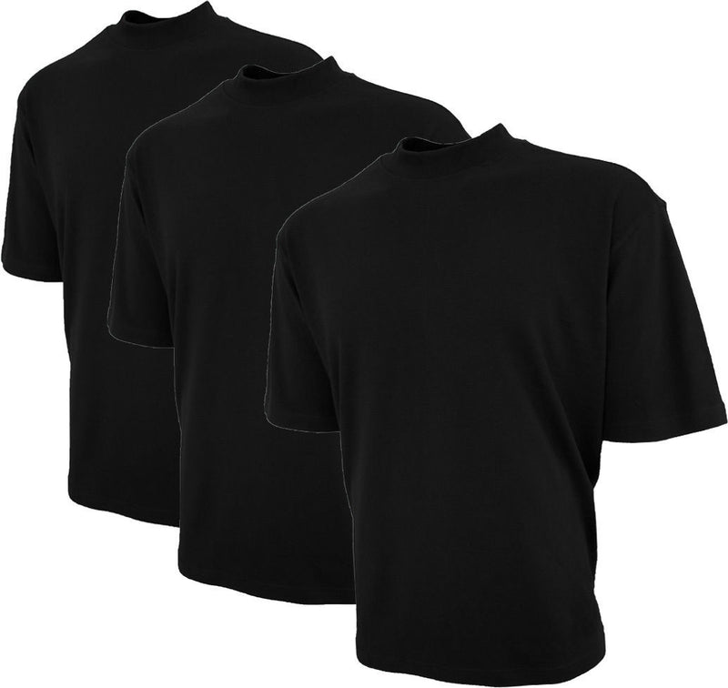 Mens Cotton Mock Turtleneck Shirt Short Sleeve Good Life Golf 3-Pack - Good Life Apparel