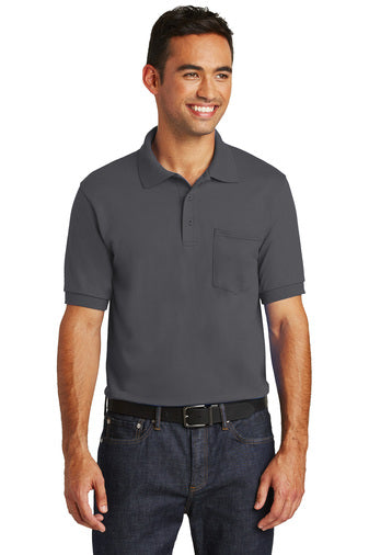 Men's Cotton Poly Blend Pocket Polo