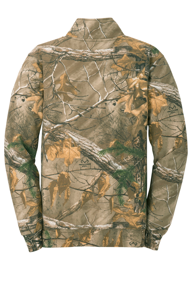 Mens RealTree 1/4 Zip Camo Sweatshirt