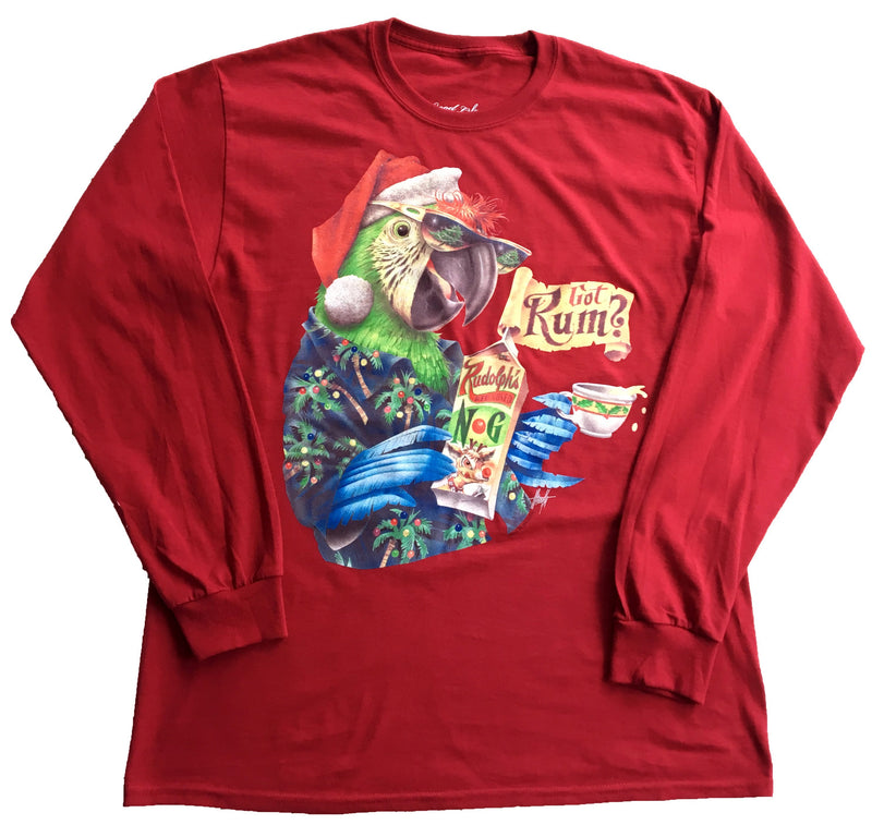Long Sleeve Christmas T-Shirt - Got Rum? - Good Life Apparel