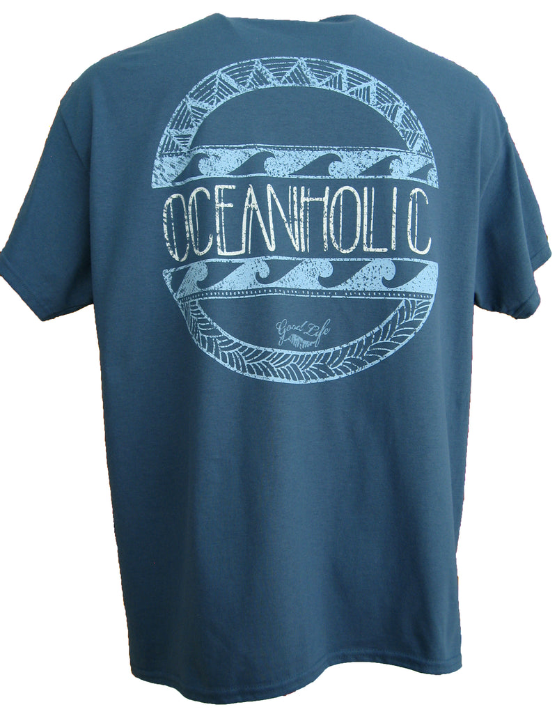 Good Life Men's Oceanholic Beach T-Shirt Collection - Good Life Apparel