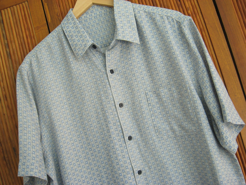 Silk & Linen Retro Style Camp Shirt Winter Grey - Good Life Apparel