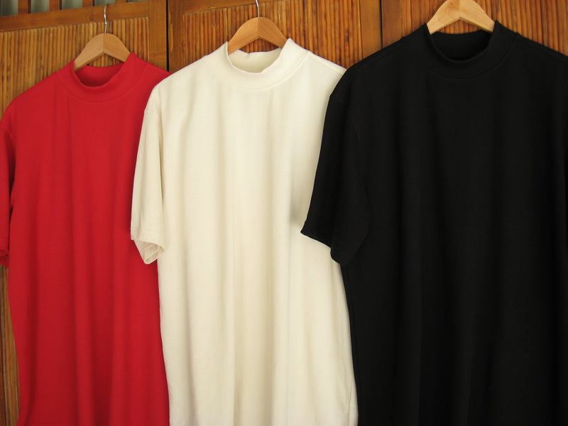 Mens Active Pique Cotton Poly Mock 3-Pack