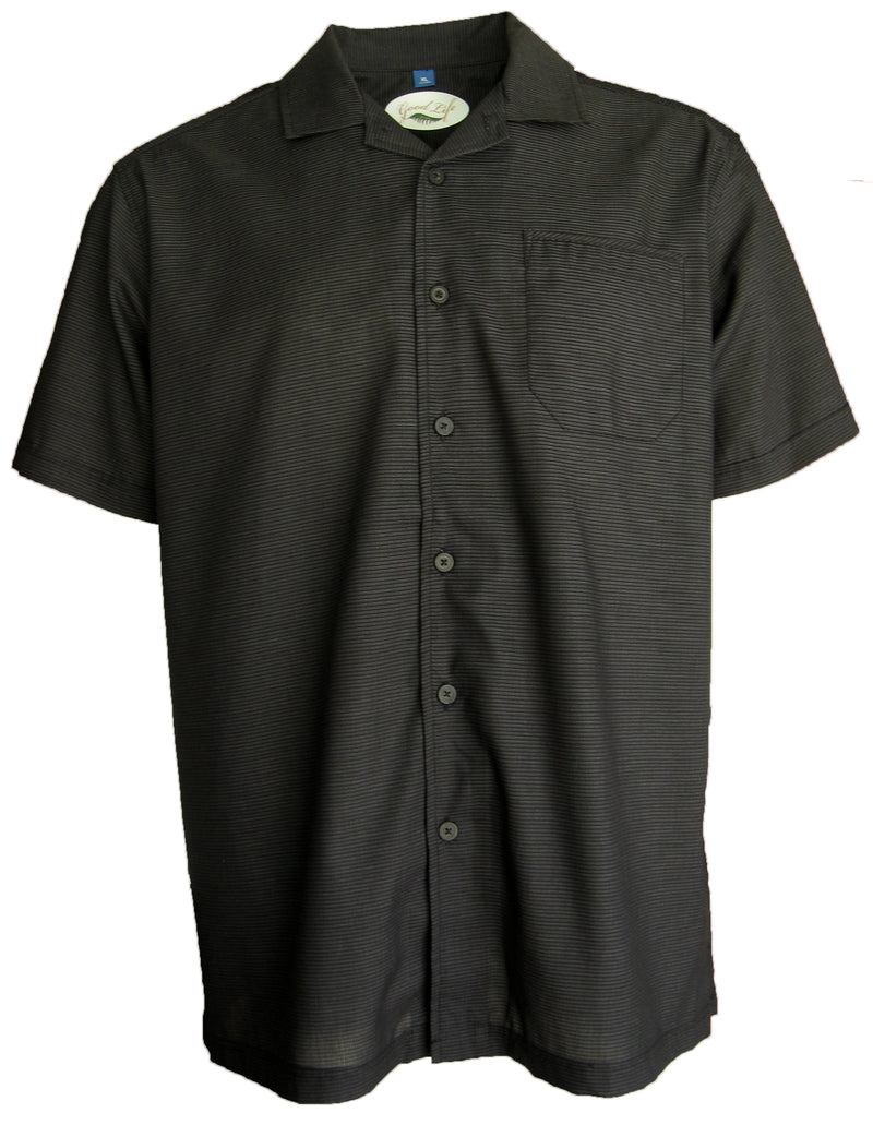 Men's Textured Lightweight Camp Shirt 4-Pack