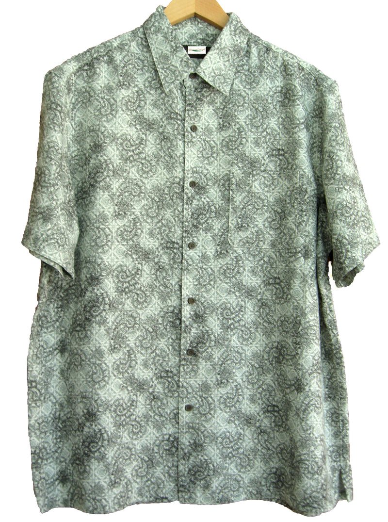 Silk & Linen Blend Retro Style Paisley Camp Shirt - Good Life Apparel