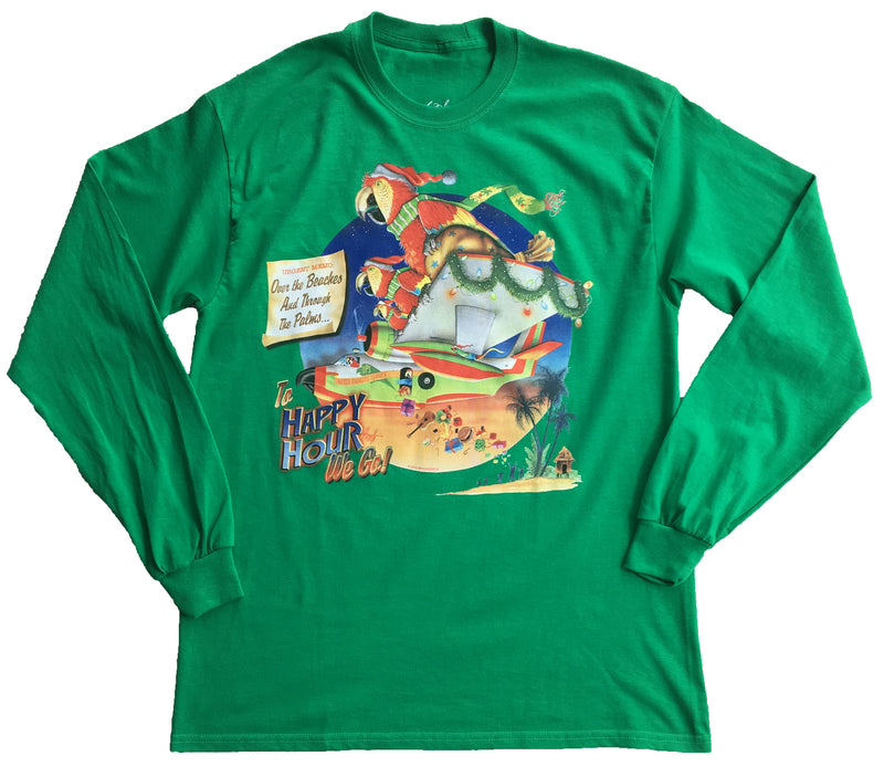 Long Sleeve Christmas T-Shirt - United Parrots Service - Good Life Apparel