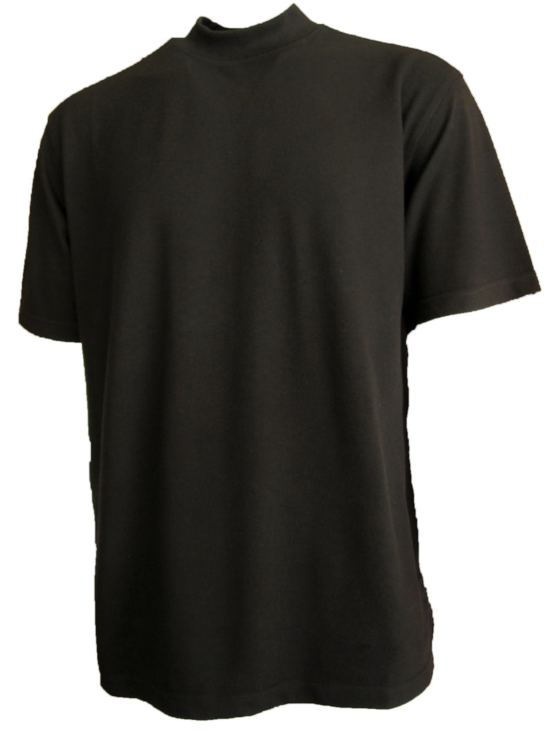 Mens Active Pique Cotton Poly Mock