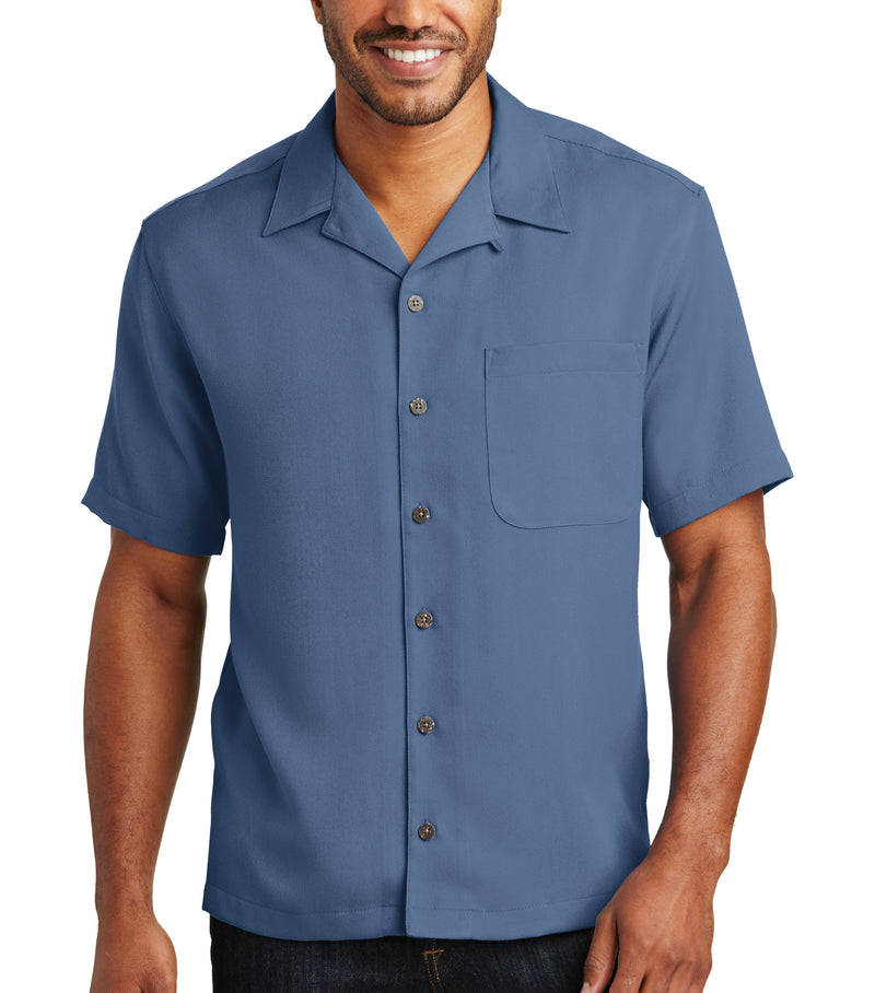 Men's Solid Pocket Easy Care Cabana Camp Shirt 4-Pack