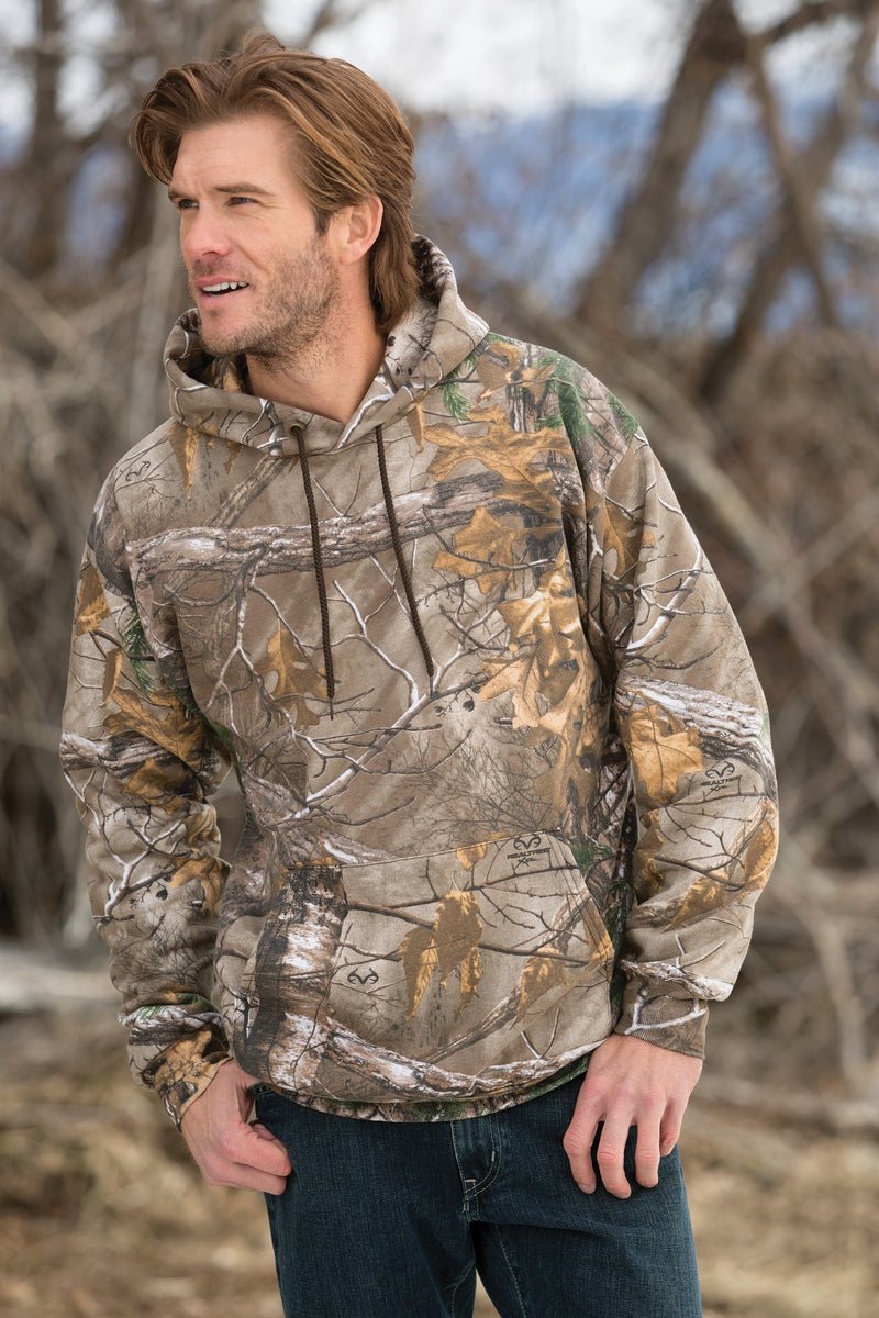 Mens Camo RealTree Xtra 8 Ounce Hoodie Pullover