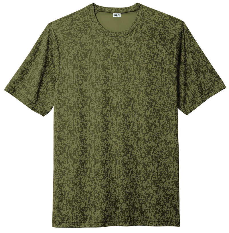 Mens Camo Performance Tee Shirt