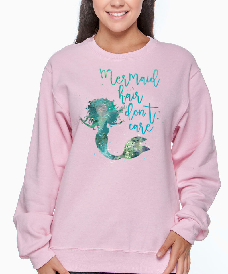 Mermaid Hair Don't Care Beach Sweatshirt Pullover - Good Life Apparel