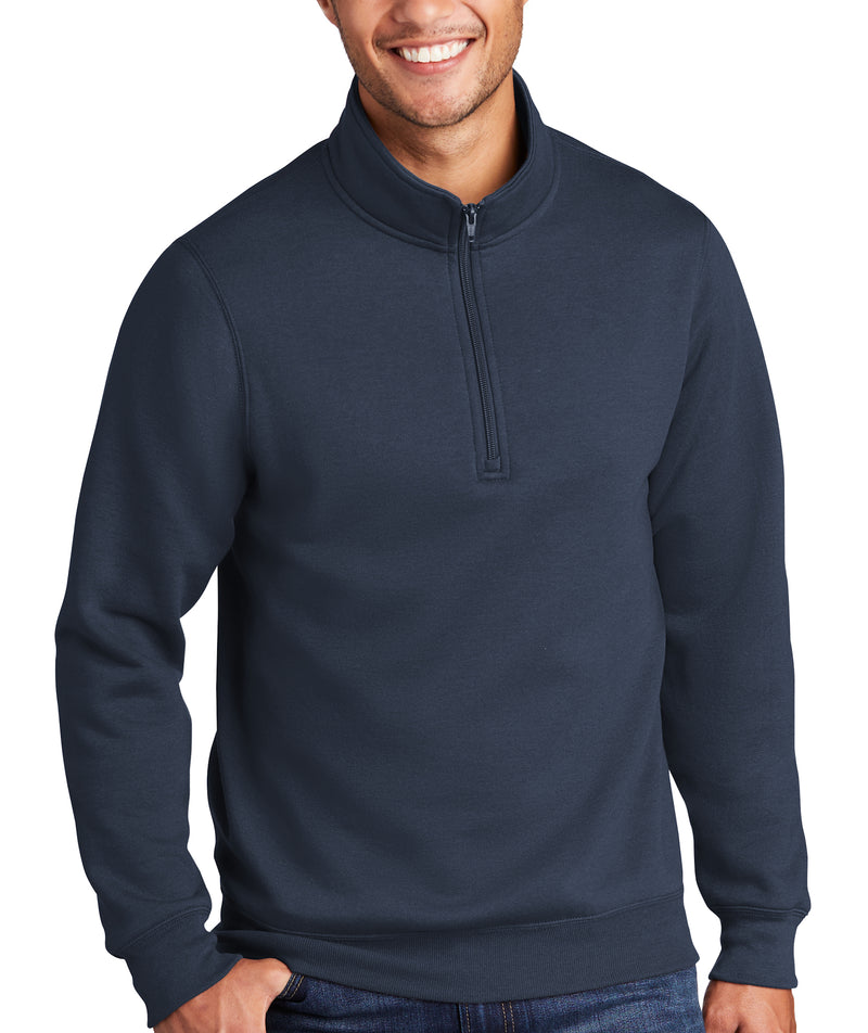 Mens Fleece Quarter-Zip Sweatshirt Pullover